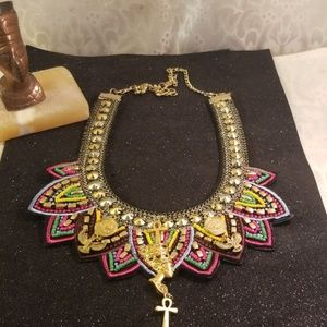 Queen nefertiti pewter charm Egyptian necklace